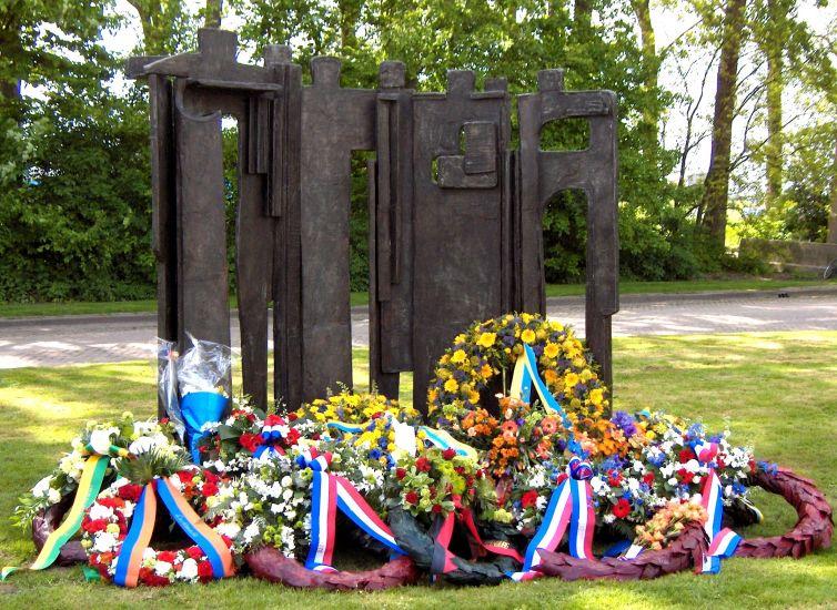 Monument Ypenburg bij het Ilsy-plantsoen in Den Haag