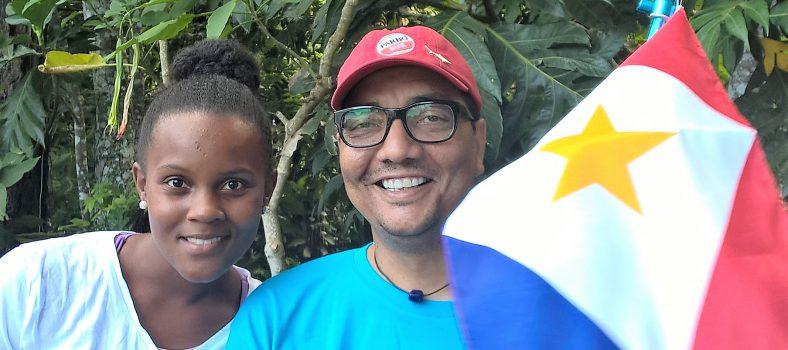 Jorgen Raymann en Nataly Linzey op Saba eerder dit jaar (foto: DCNA)