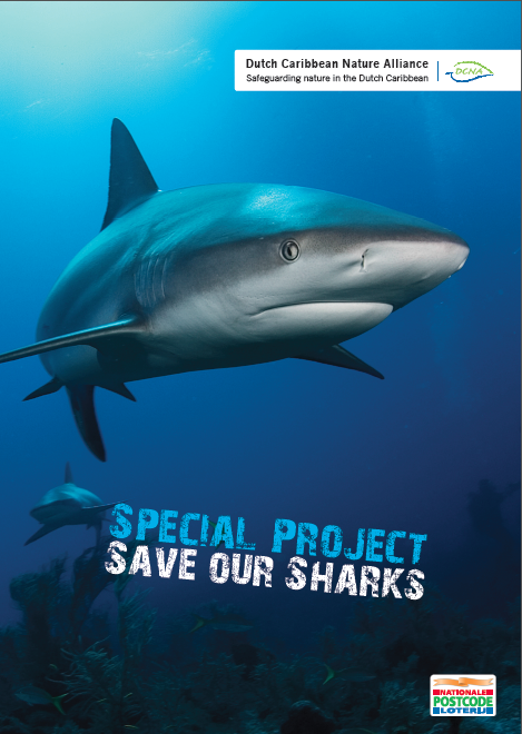 Save our Sharks!  Een project van DCNA onder leiding van de Sint Maarten Nature Foundation en met financiering van de Nationale Postcode Loterij.